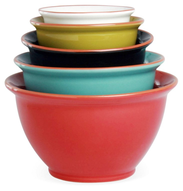 S/5 Terra Mixing Bowls, Multi