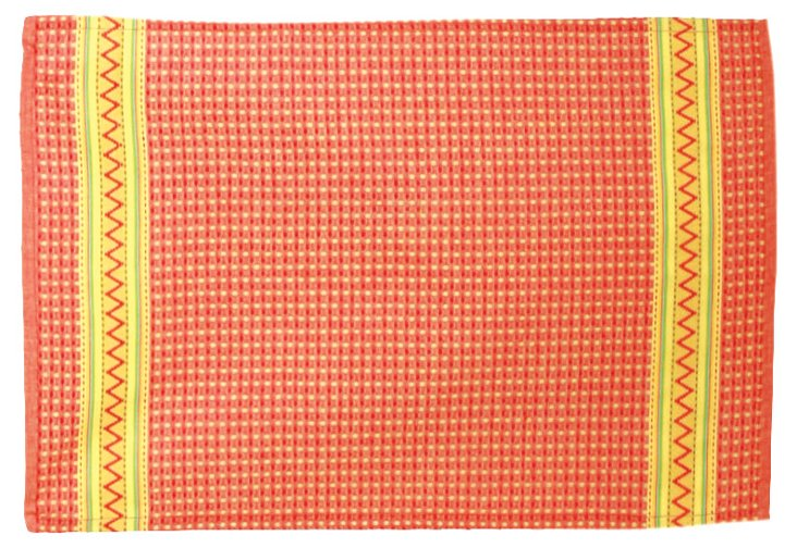 S/2 Ariel Waffle Weave Dish Towels, Red