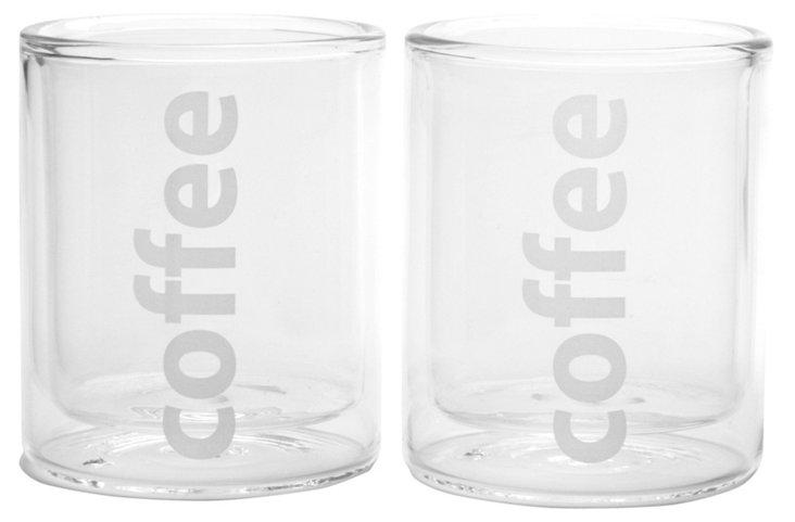 "S/2 Viva Double-Wall ""Coffee"" Glasses"