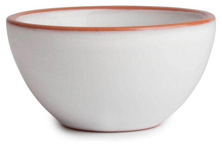 S/4 Terra-Glazed Prep Bowls, White