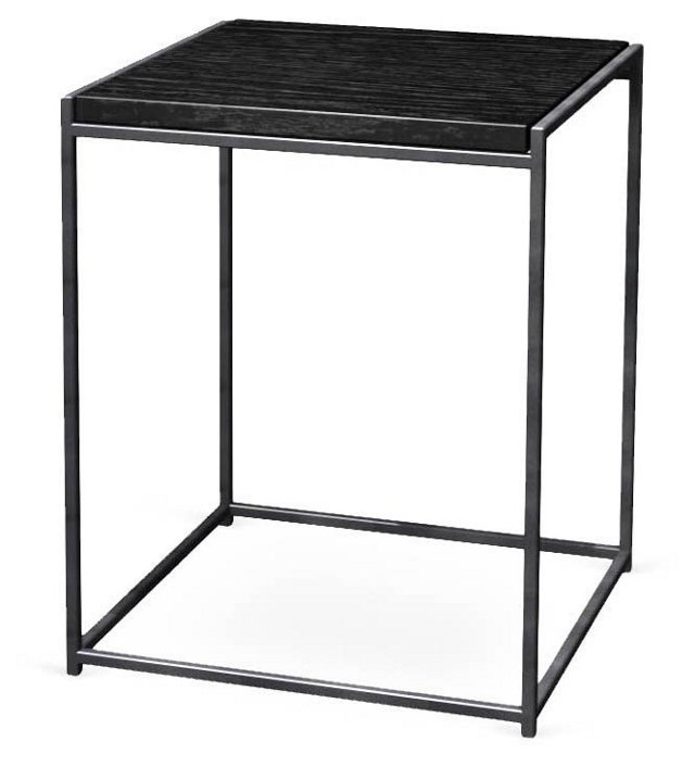 Murphy End Table, Pewter/Black