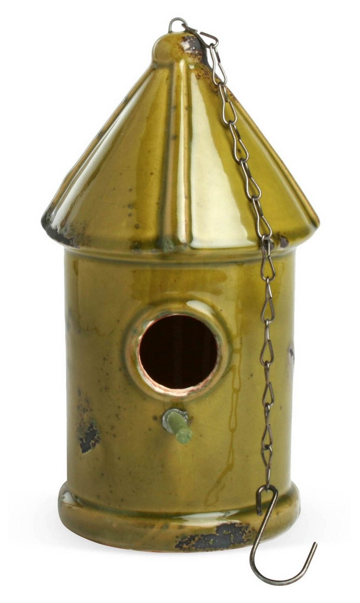 "11"" Birdhouse, Green"