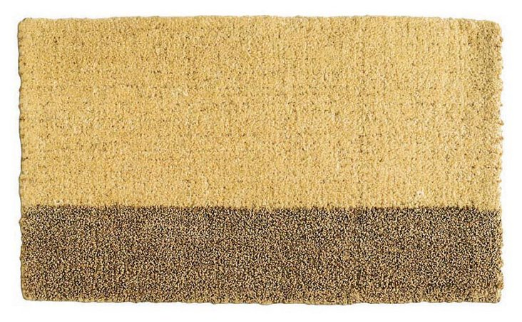 Two-Tone Coir Mat, Yellow