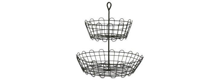 2-Tier Wire Serving Basket