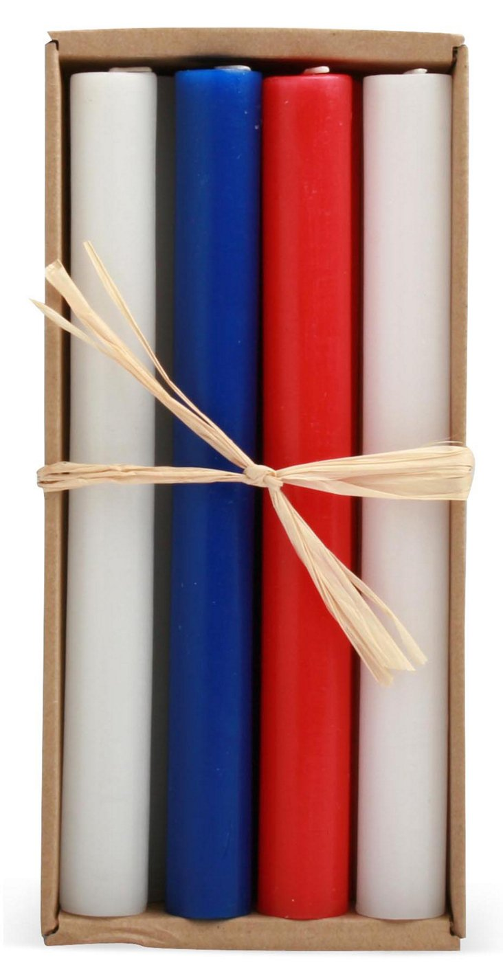 Patriotic Candles, Asst. of 8
