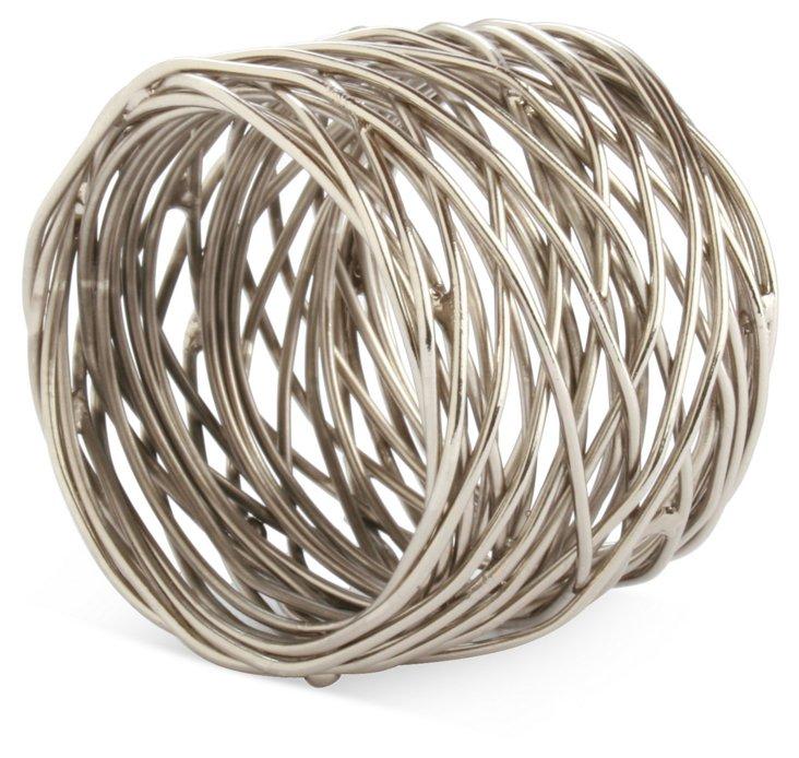 Spun Metal Napkin Ring, Silver