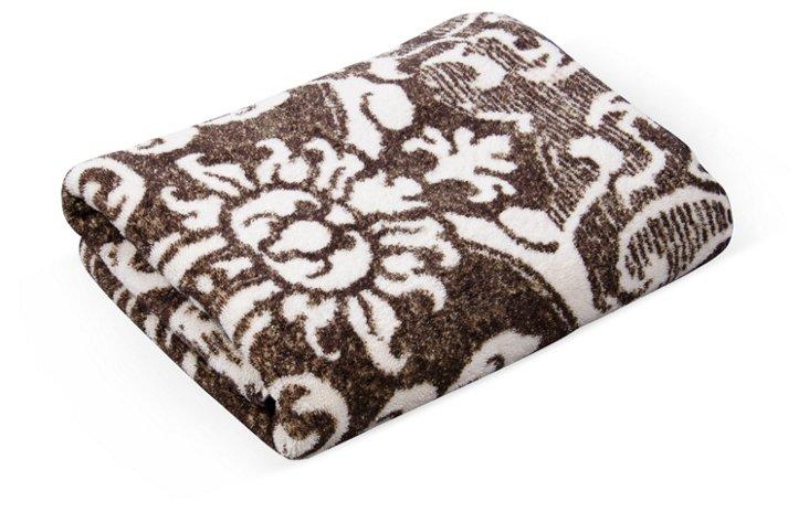 Fresco Bath Towel, Brown & White
