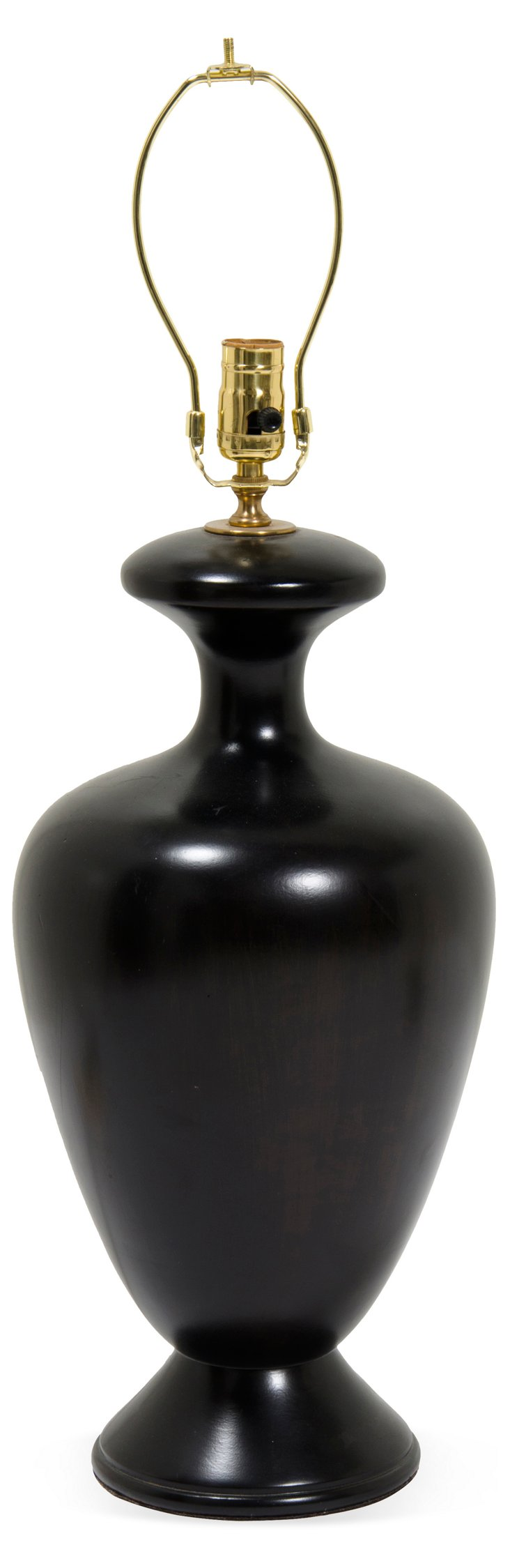 Vintage Wood Urn Table Lamp