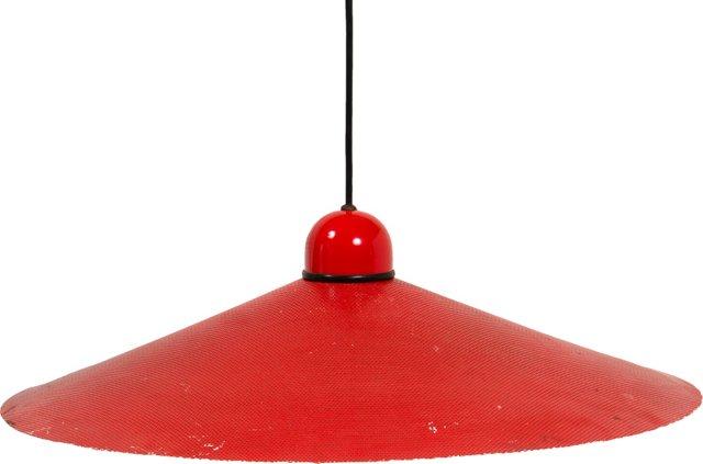 Red & White Mesh Pendant