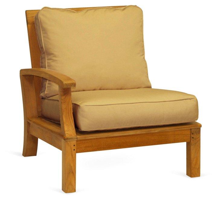 Monterey Sectional Left Armchair, Beige