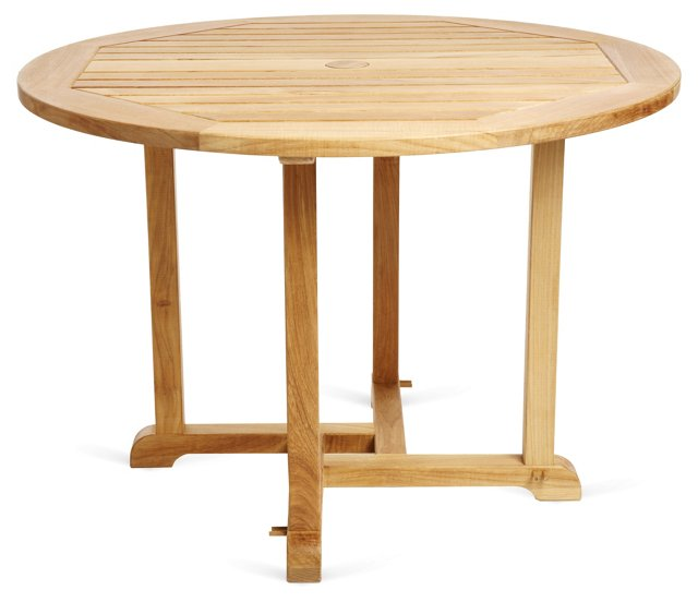 Round Dining Table, Teak