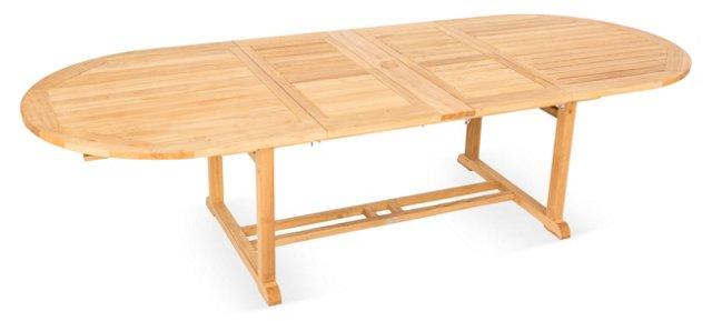 Teak Oval Extension Table