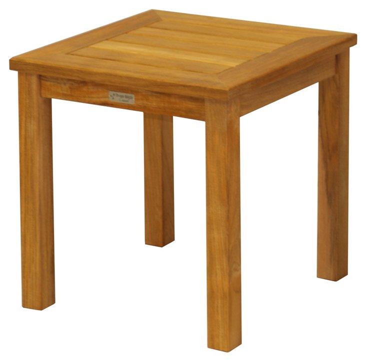 Teak Tall Square Side Table