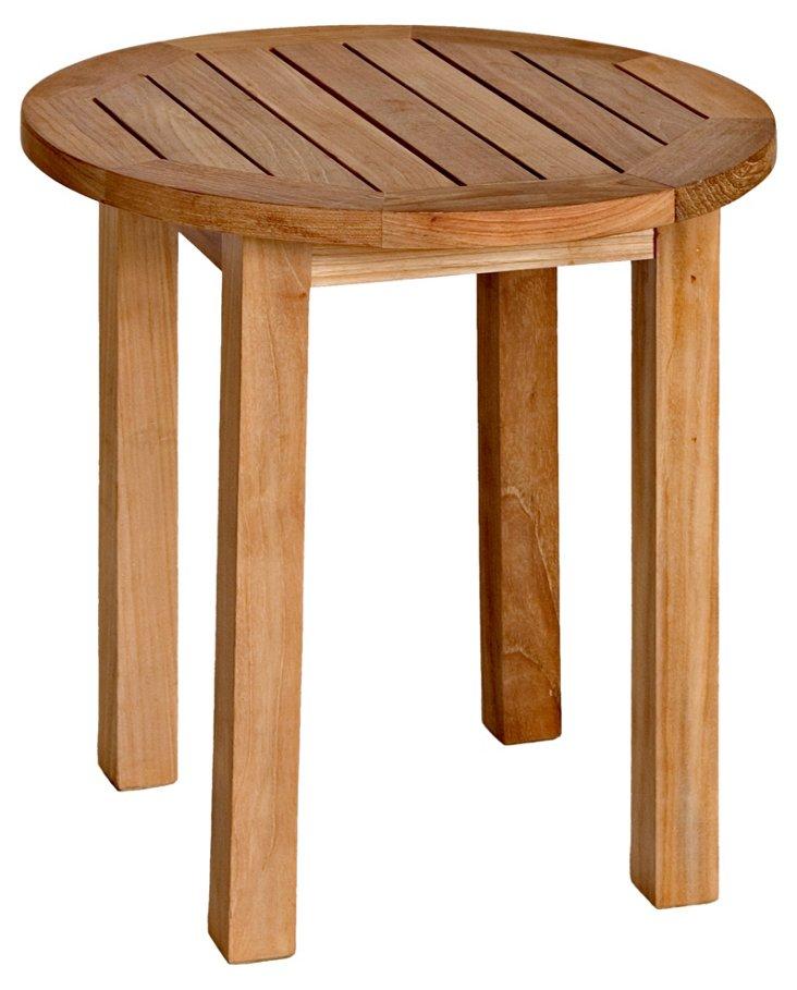 Teak Tall Round Side Table
