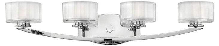 Meridian 4-Light Vanity, Chrome