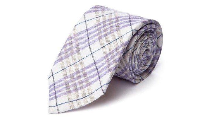 Tartan Plaid Italian Tie, Violet