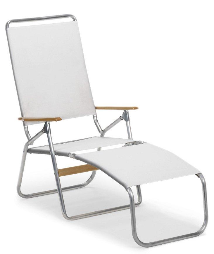 Telaweave Folding Chaise, White