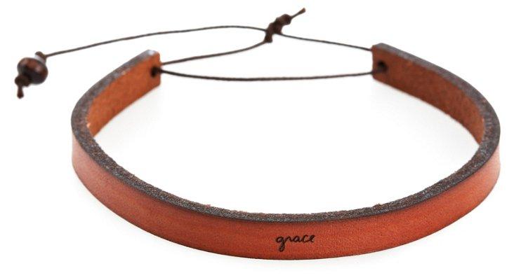 'Grace' Adjustable Leather Bracelet
