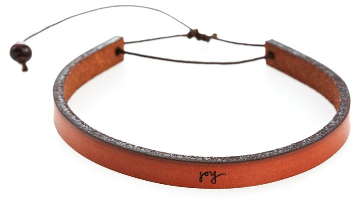 'Joy' Adjustable Leather Bracelet