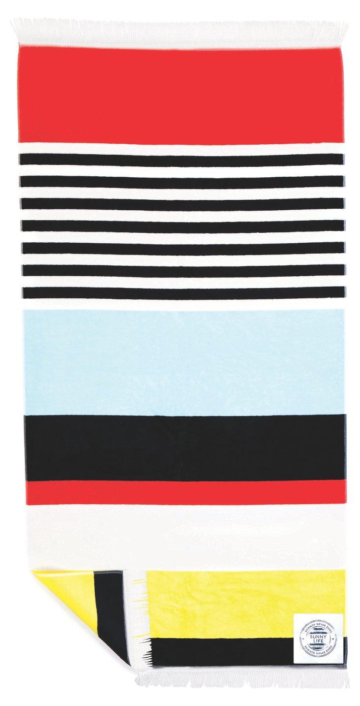 Brampton Beach towel, Red/Black