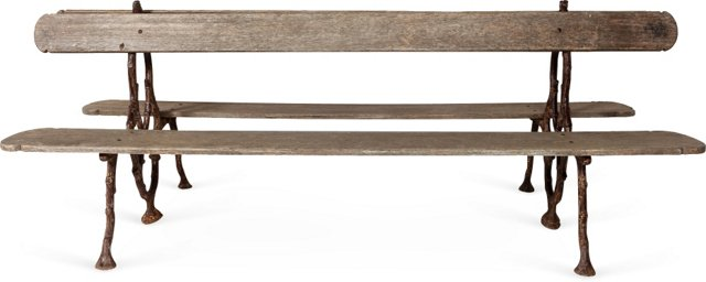 Double-Sided French Garden Bench