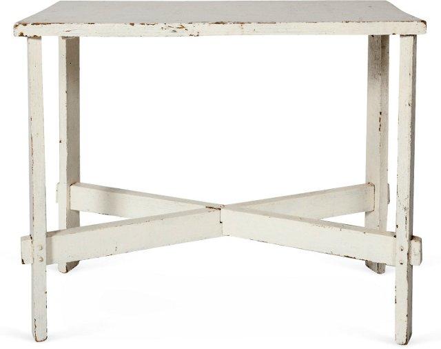 Simple White Farm Table