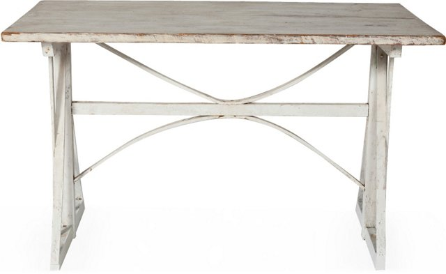 White Bowed-Stretcher Table