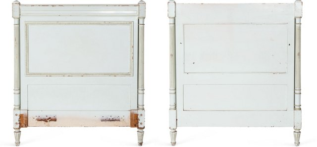 Turquoise Twin Headboards, Pair