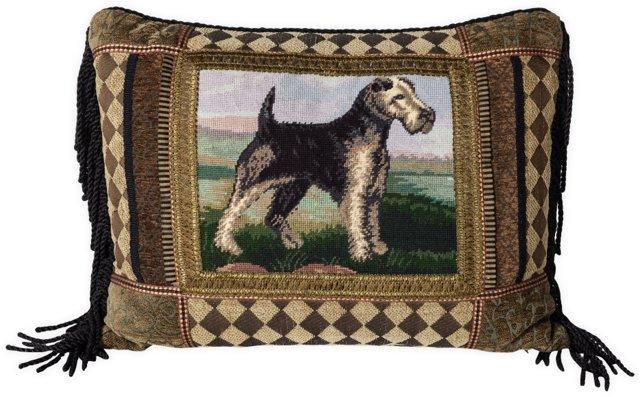 Vintage Terrier Pillow