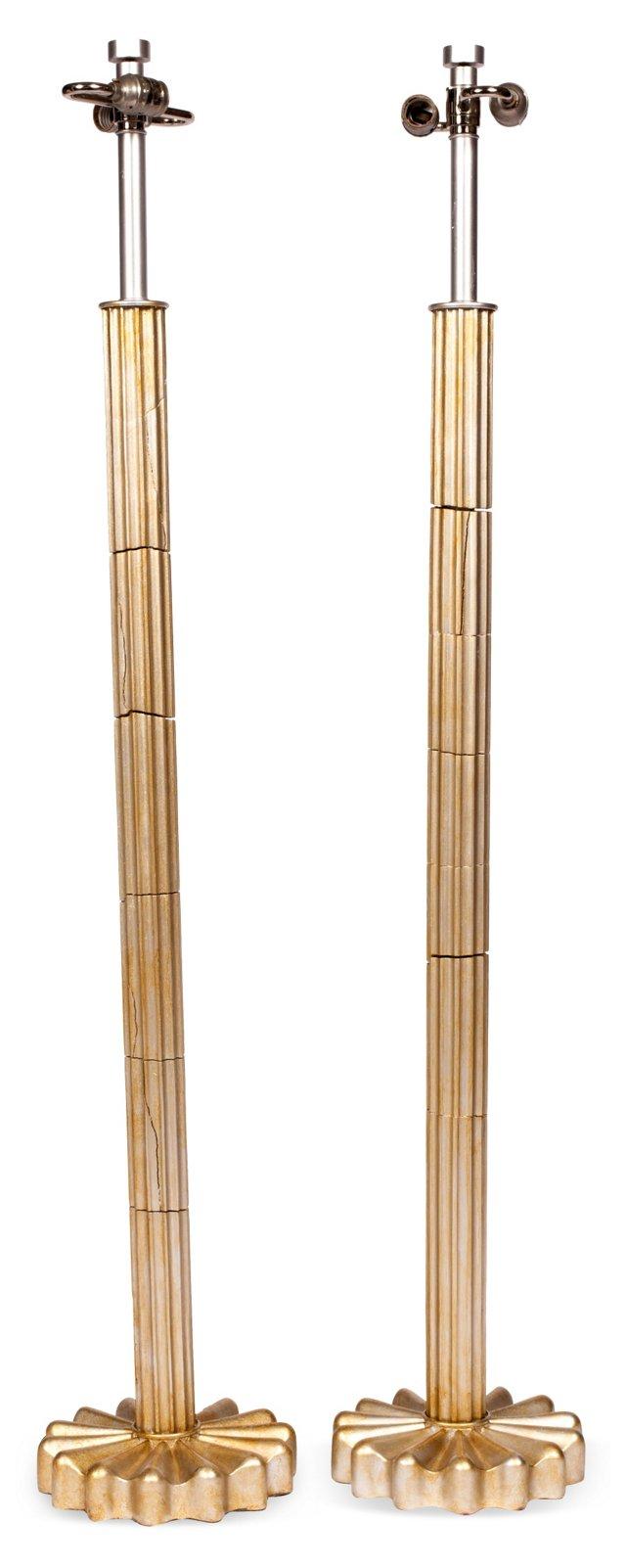 Art Deco Floor Lamps, Pair
