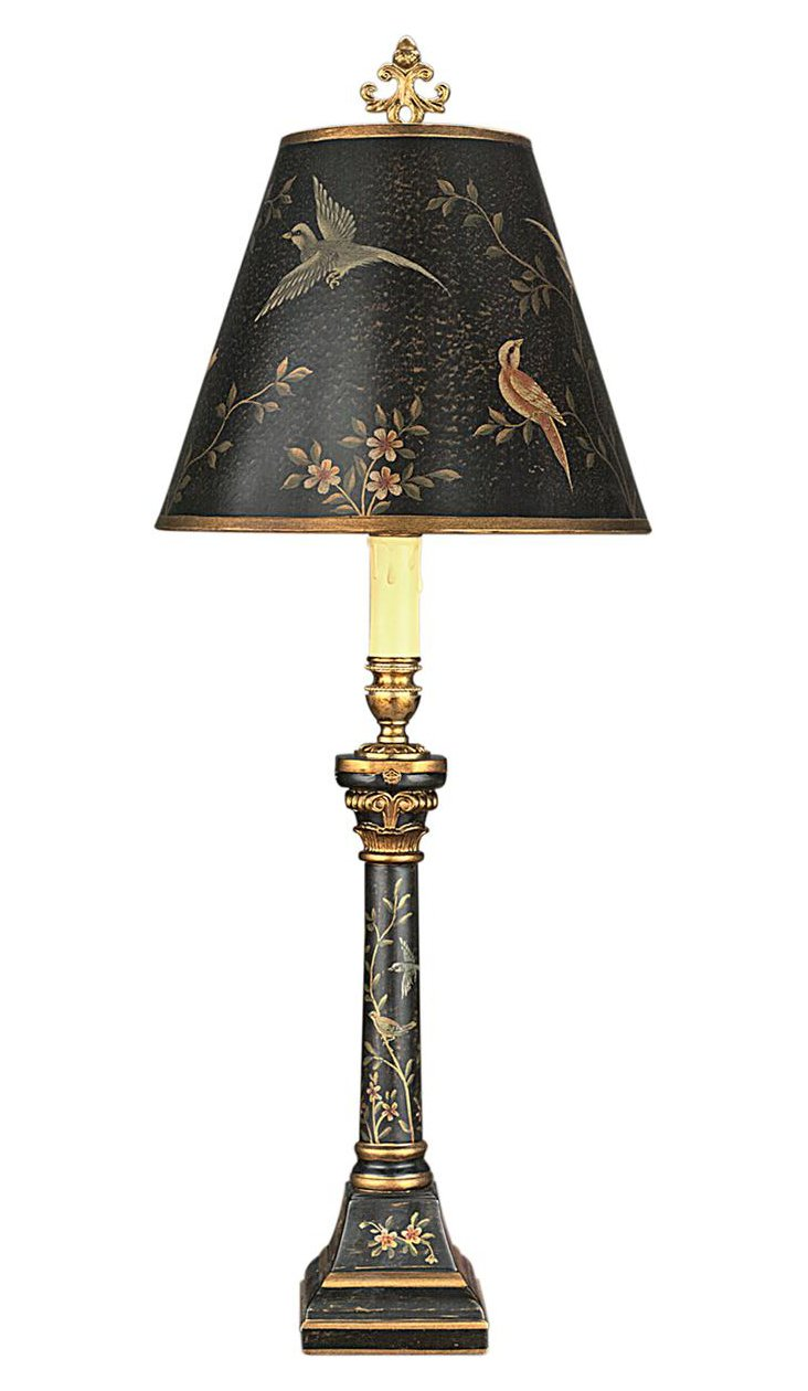 Belle Haven Table Lamp, Black/Gold