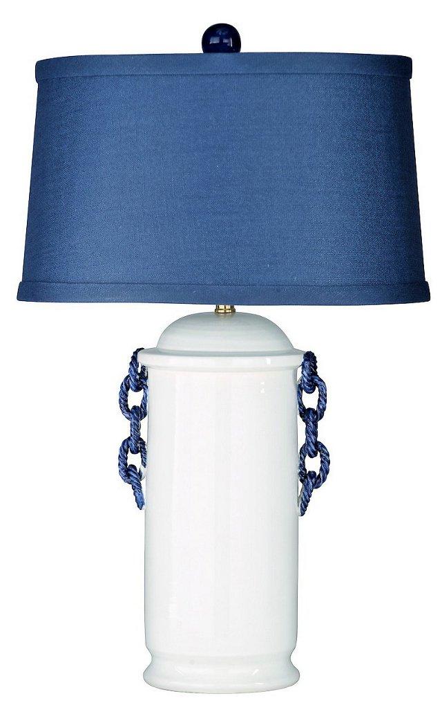 Commodore Table Lamp, White