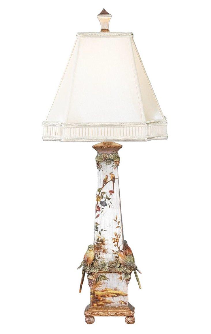 Enchanting Silver Birds Lamp