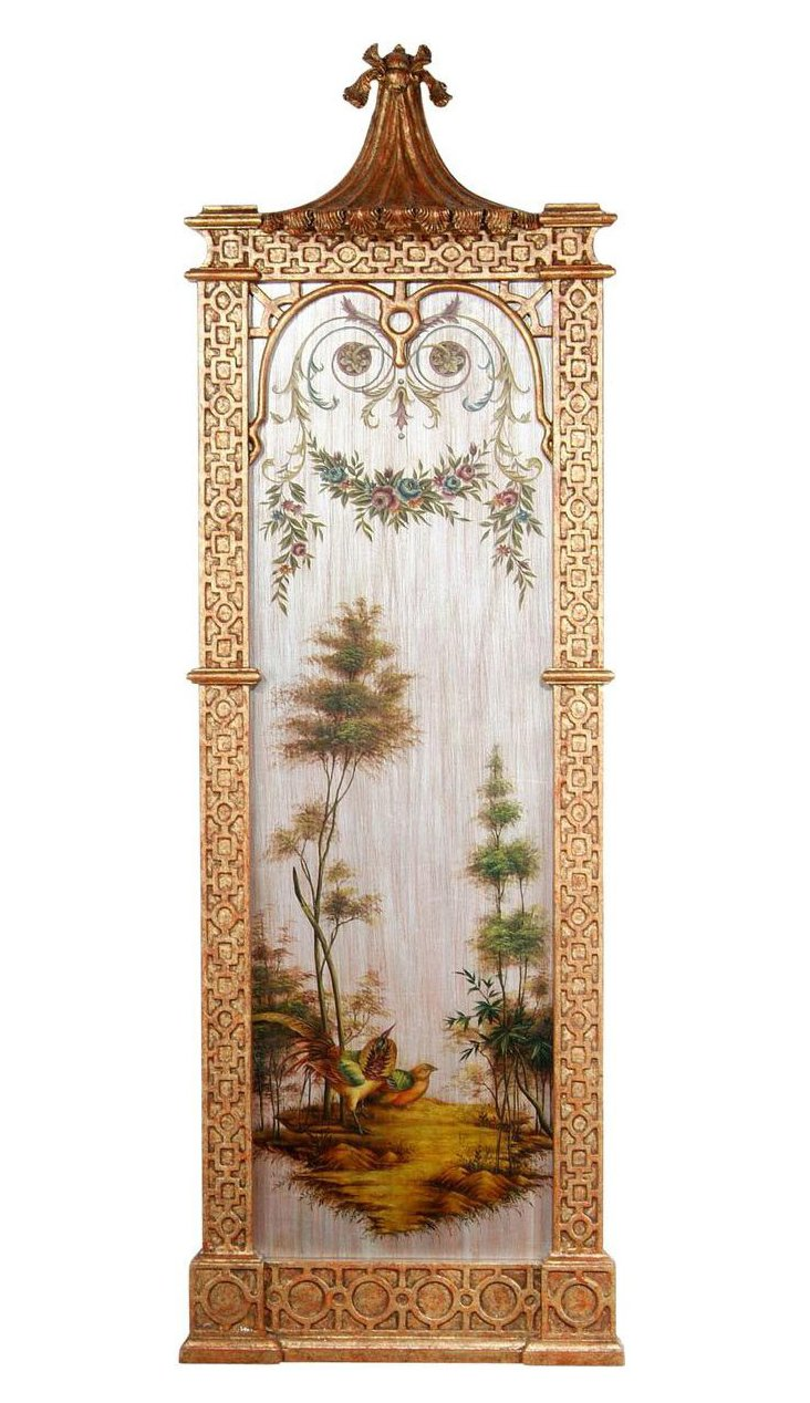 Exotic Pheasant Wall Panel, Left