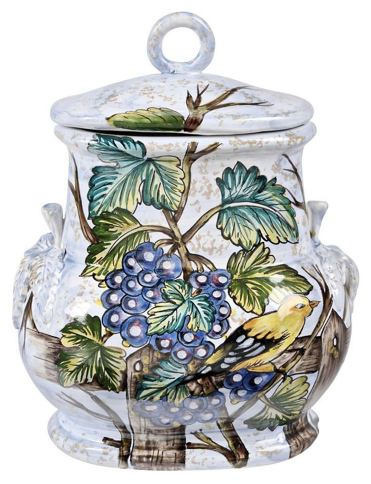 Italian Bird and Berry Canister