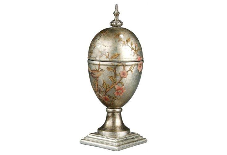 Silver Bird Jar