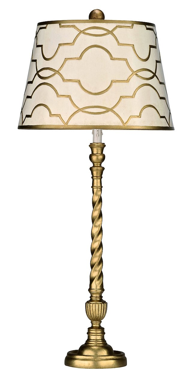 Haute Couture Buffet Table Lamp, Gold
