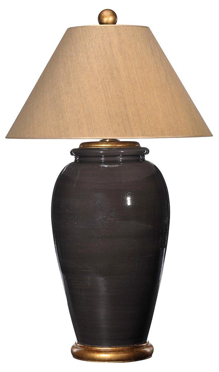 Montecito Table Lamp, Chocolate