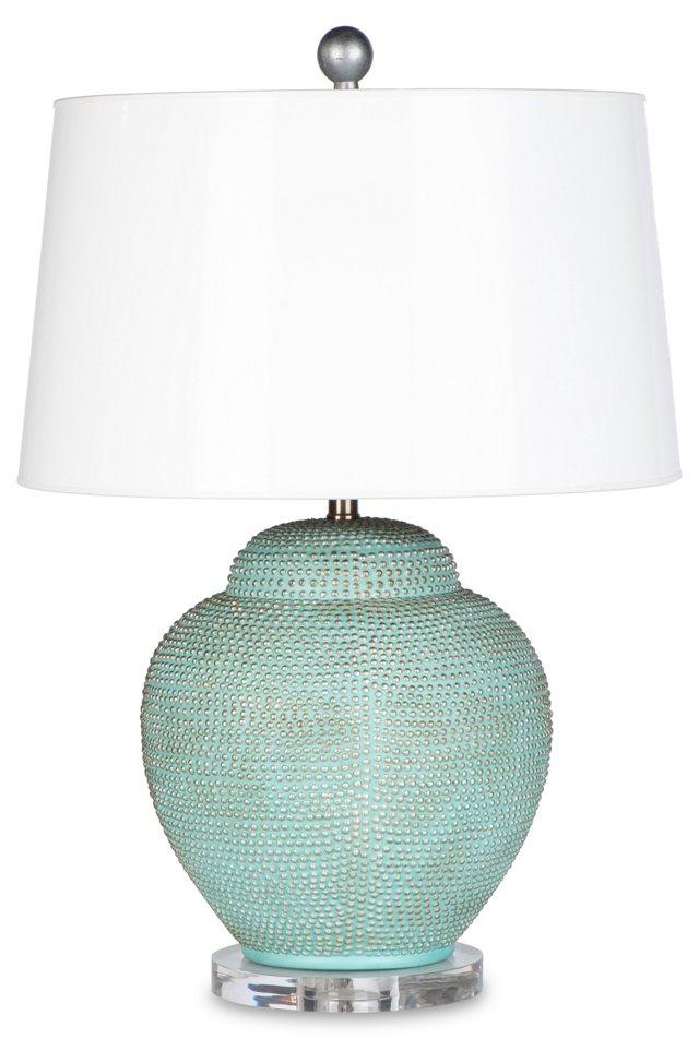 St. Tropez Bay Table Lamp, Pale Blue
