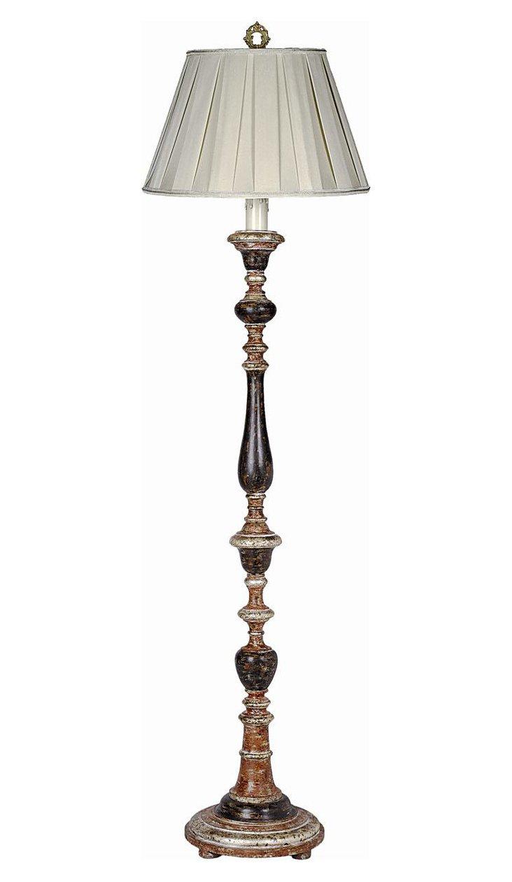Grand Nights Floor Lamp, Italian Wood