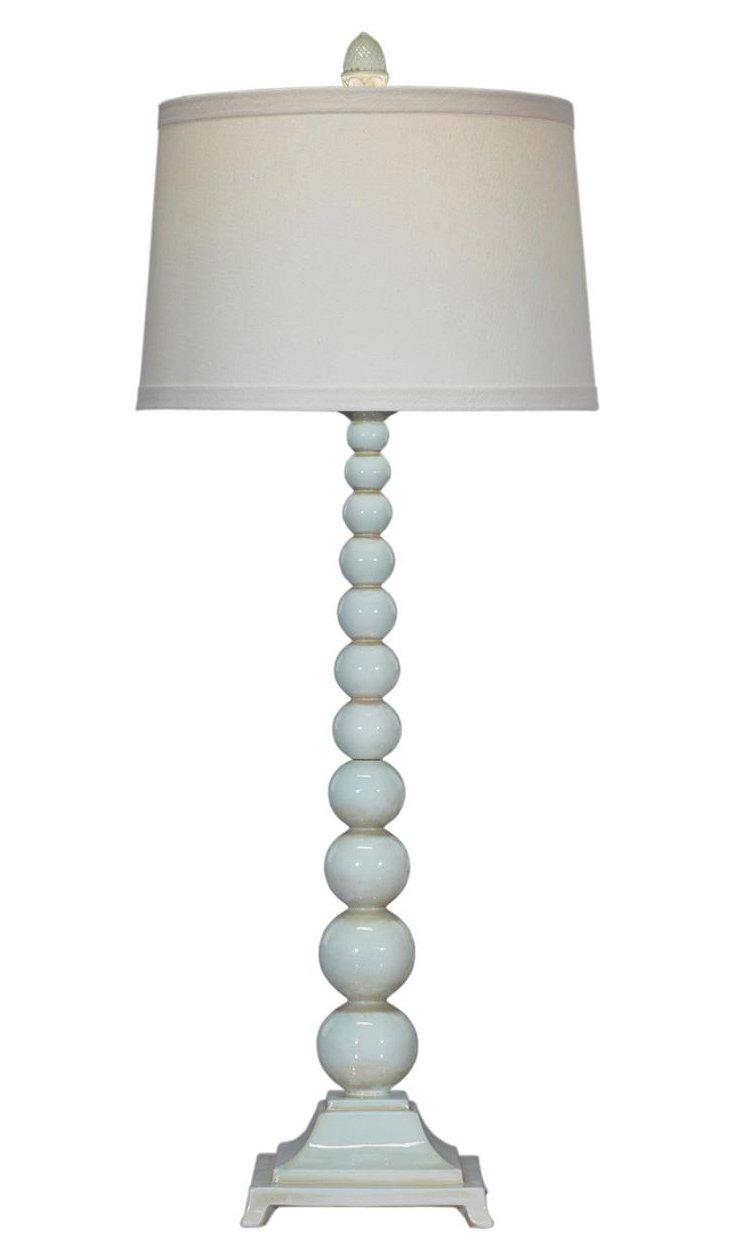 Bella Azure Buffet Table Lamp, Aqua
