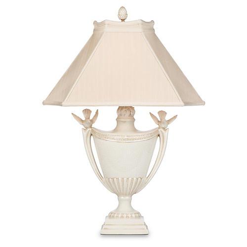Calinda Table Lamp, Alabaster