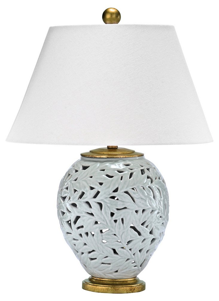 Eternal Leaves Table Lamp, Blue