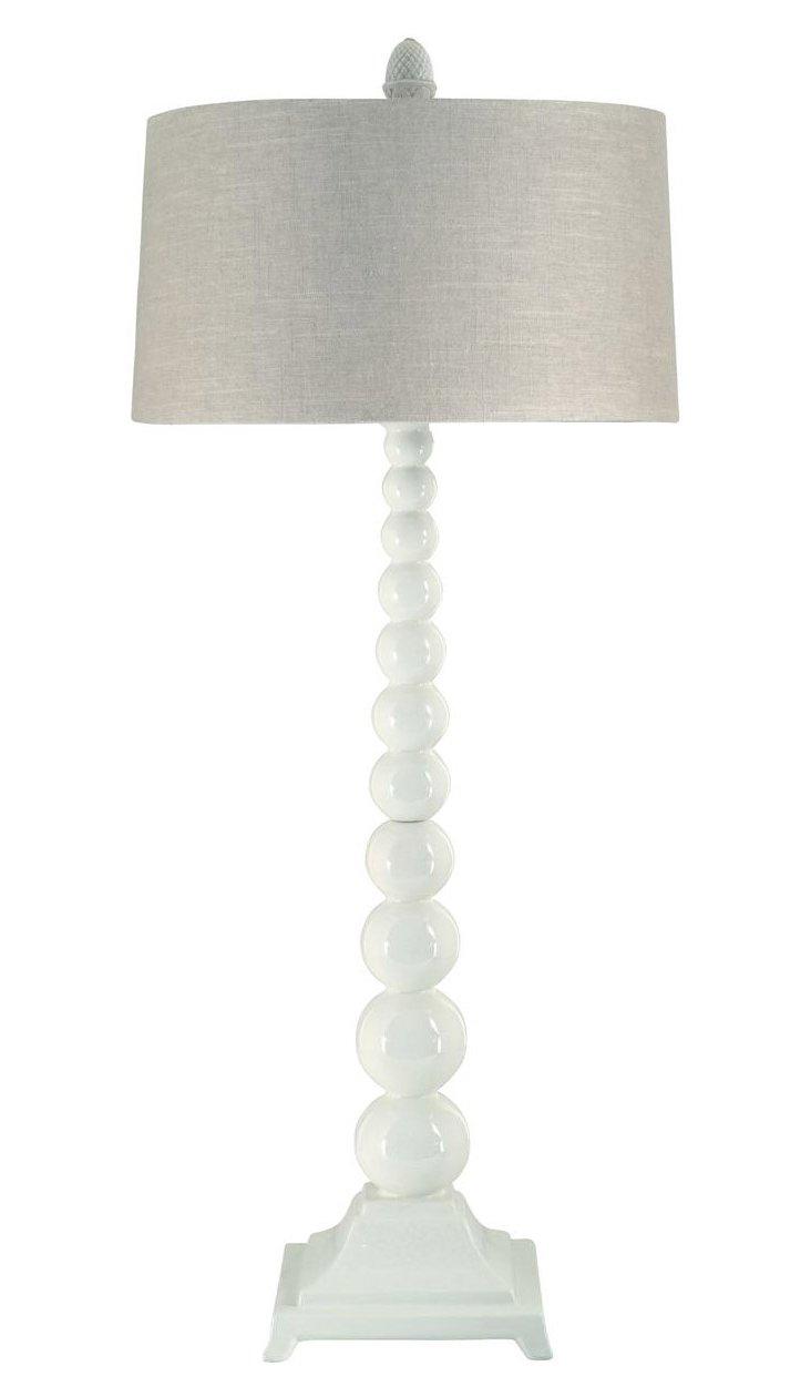 "41"" Solar Fusion Buffet Lamp, Cream"