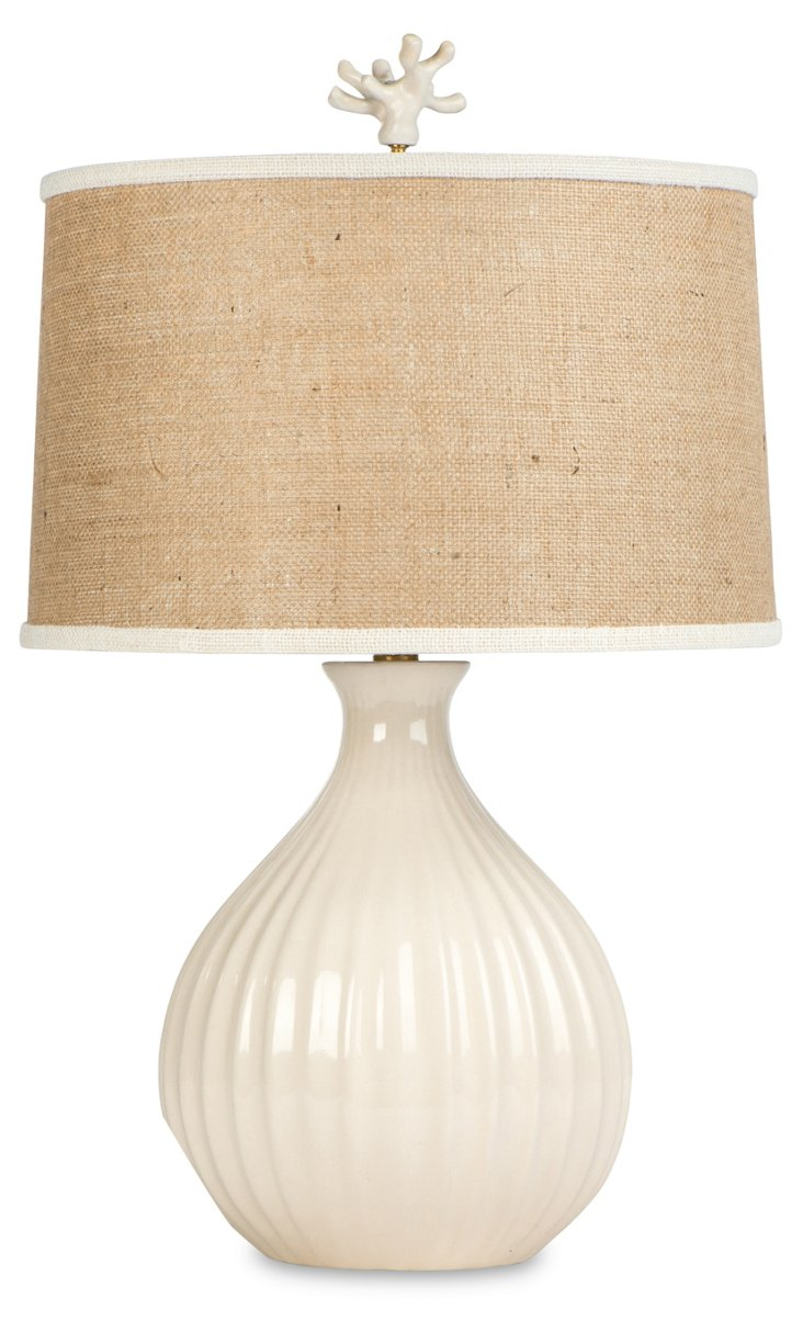 Castaway Table Lamp, Cream