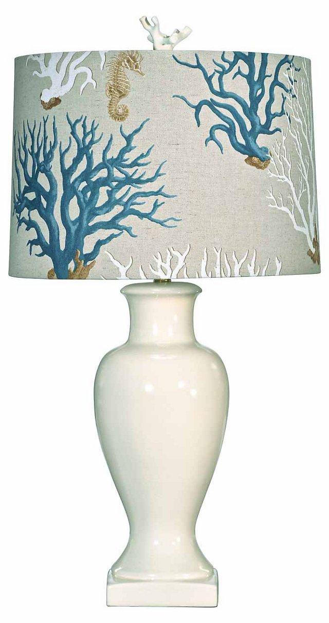 Sea Island Table Lamp, Cream