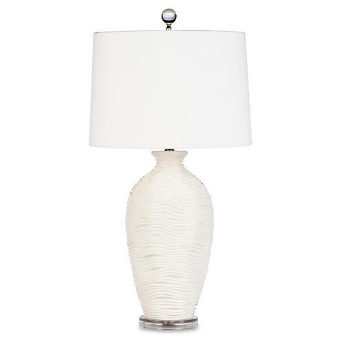 Alabaster Vanna Table Lamp, White