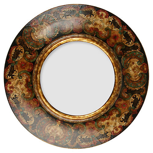 Paisley Wall Mirror, Gold/Multi