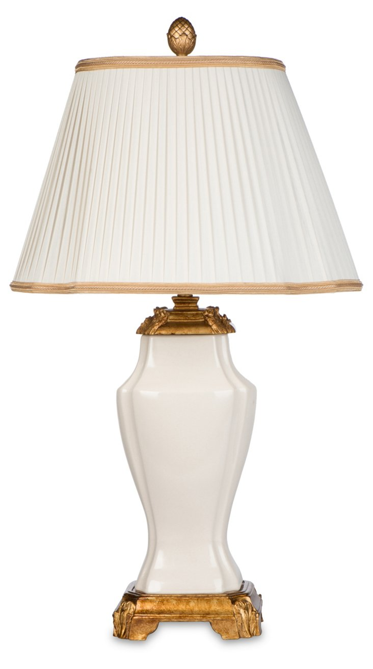 Isabella Table Lamp, Cream/Gold