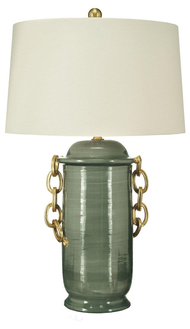 Bon Vivant Table Lamp, Gray